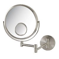 Jerdon Wall Mount Makeup Mirror