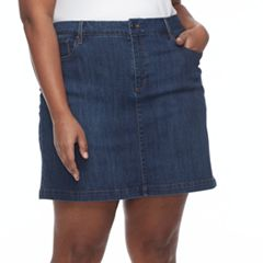 Plus Size Croft & Barrow® Denim Skort