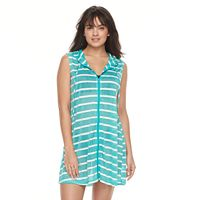 Women's Portocruz Striped Hooded Cover-Up Tunic