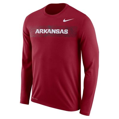 Men's Nike Arkansas Razorbacks Legend Sideline Long-Sleeve Tee