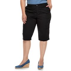 Plus Size SONOMA Goods for Life™ Ultra Breathable Poplin Skimmer Shorts
