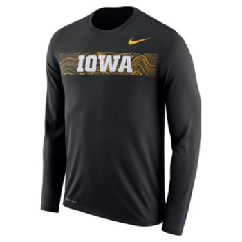Men's Nike Iowa Hawkeyes Legend Sideline Long-Sleeve Tee