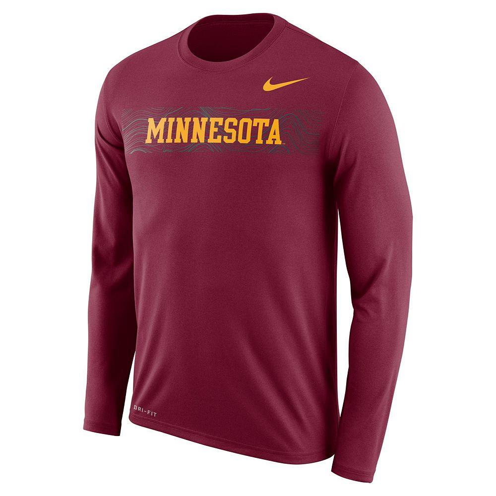 Men's Nike Minnesota Golden Gophers Legend Sideline Long-Sleeve Tee