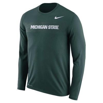 Men's Nike Michigan State Spartans Legend Sideline Long-Sleeve Tee