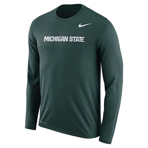 Men's Nike Michigan State Spartans Legend Sideline Long-Sleeve Tee