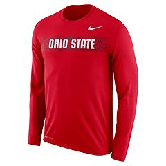 Men's Nike Ohio State Buckeyes Legend Sideline Long-Sleeve Tee