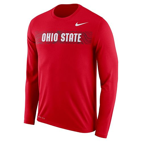 Men's Nike Ohio State Buckeyes Legend Sideline Long-Sleeve Tee