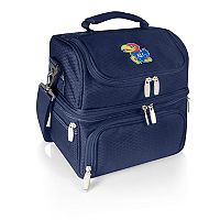 Picnic Time Kansas Jayhawks 7 pc Insulated Cooler Lunch Tote Set
