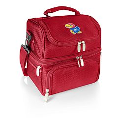 Picnic Time Kansas Jayhawks 7-Piece Insulated Cooler Lunch Tote Set