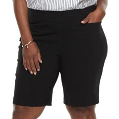 Plus Size Dana Buchman Pull-On Bermuda Shorts