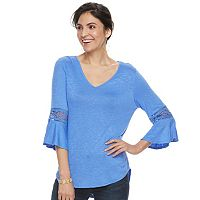 Women's Apt. 9® Crochet Bell Tee