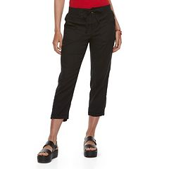 Juniors' SO® Utility Cropped Pants
