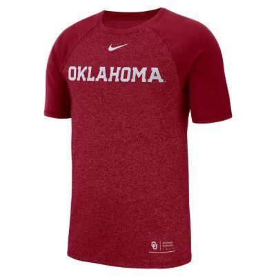 Men's Nike Oklahoma Sooners Marled Raglan Graphic Tee
