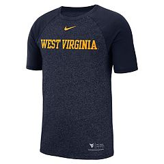 Men's Nike West Virginia Mountaineers Marled Raglan Graphic Tee