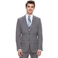 Men's Marc Anthony Slim-Fit Gray Crosshatch Stretch Suit Jacket