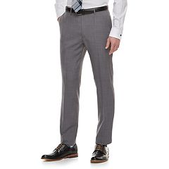 Men's Marc Anthony Slim-Fit Gray Crosshatch Stretch Suit Pants