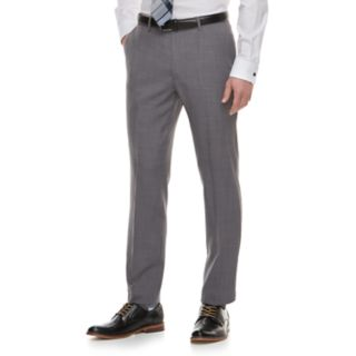 Men's Marc Anthony Slim-Fit Gray Crosshatch Stretch Suit Pants