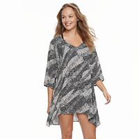 Women's Portocruz Animal Print Sharkbite Cover-Up Tunic