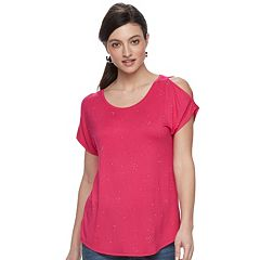 Women's Apt. 9® Embellished Cold-Shoulder Tee