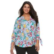 Plus Size Apt. 9® Knot Sleeve Blouse