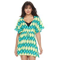 Women's Portocruz Summer Ikat Surplice Cover-Up Dress