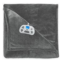 Serta Silky Plush Heated Blanket