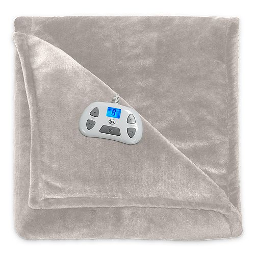 Serta Silky Plush Heated Blanket