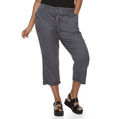 Juniors' Plus Size SO® Utility Cropped Pants