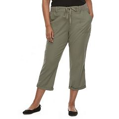 Juniors' Plus Size SO® Utility Cropped Pants