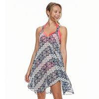 Women's Portocruz Geometric Racer Back Cover-Up Dress