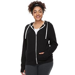 Juniors' Plus Size SO® Thumb Hole Zip-Up Hoodie