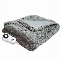 Serta Faux Fur Heated Throw