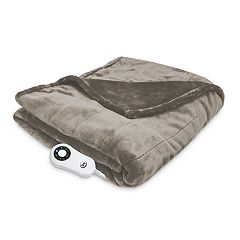 Serta Silky Plush Heated Throw