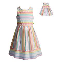 Girls 4-14 Dollie & Me Striped Dress Set