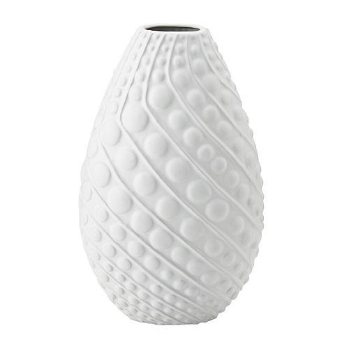 Bombay™ Matte White Spiral Dots Vertical Decorative Vase