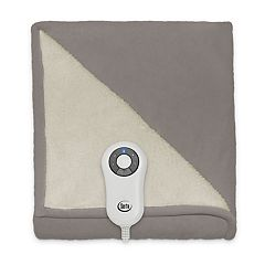 Serta Microfleece & Sherpa Heated Throw