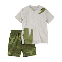 Toddler Boy Carter's 2 pc Alligator Tee & Printed Shorts Set