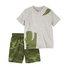 Toddler Boy Carter's 2-pc. Alligator Tee & Printed Shorts Set