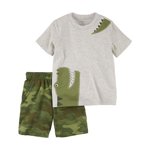 Toddler Boy Carter's 2-pc. Alligator Tee & Printed Shorts Set