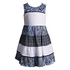 Girls 4-6x Youngland Crochet Mixed Print Dress