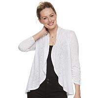 Women's Apt. 9® Shadow Stripe Flyaway Cardigan