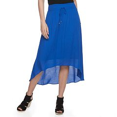 Women's Apt. 9® Smocked High-Low Midi Skirt