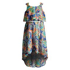 Girls 4-6x Youngland High-Low Popover Printed Woven Dress