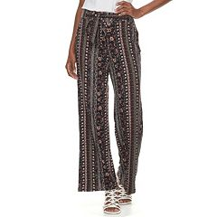 Women's Studio 253 Printed Soft Wide-Leg Pants