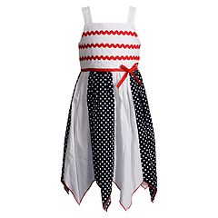 Girls 4-6x Youngland Handkerchief Hem Patriotic Woven Dress