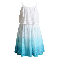 Girls 4-6x Youngland Ombre Dip-Dye Crochet Knit Fashion Dress