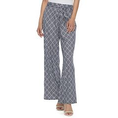 Women's Studio 253 Printed Wide-Leg Pants