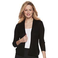 Women's Apt. 9® Ribbed Peplum Cardigan