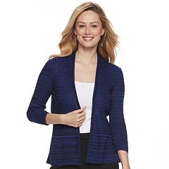 Women's Apt. 9® Ribbed Peplum Cardigan
