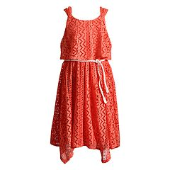 Girls 4-6x Youngland Crochet Popover Woven Dress